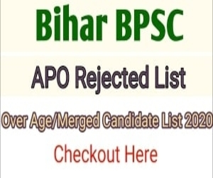 BPSC APO Rejected Candidates List 2020