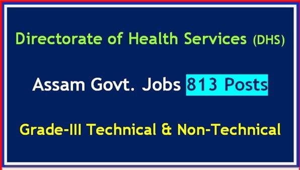 DHS Assam Grade III Recruitment 2020