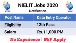 NIELIT Chandigarh Recruitment 2020