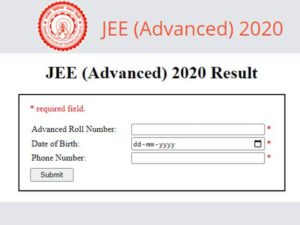 IIT JEE Advance Result 2020