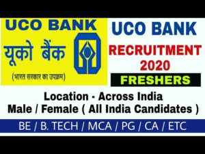 UCO Bank SO Recruitment 2020