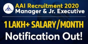 AAI Jr Executive Manager Recruitment 2020