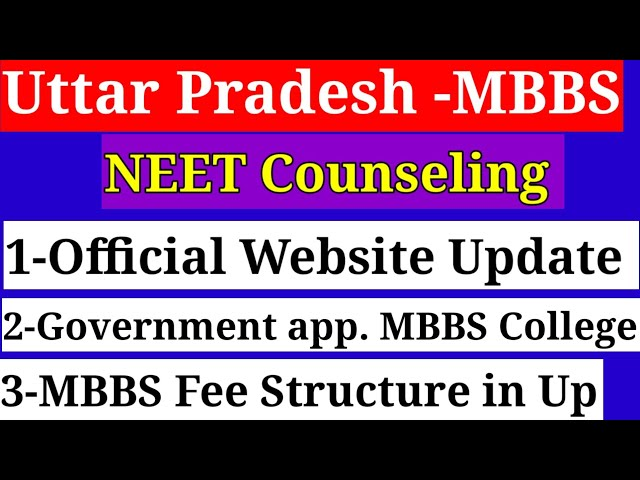 UP NEET 2020 Online Counseling